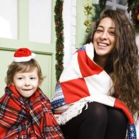 рождество,фото,семья