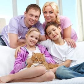 счастливая семья,гармоничные отношения