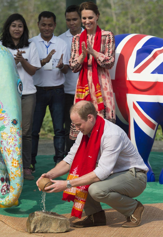 Кейт Миддлтон и Принц Уильям в Индии