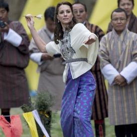 Кейт Миддлтон и принц Уильям в Бутане