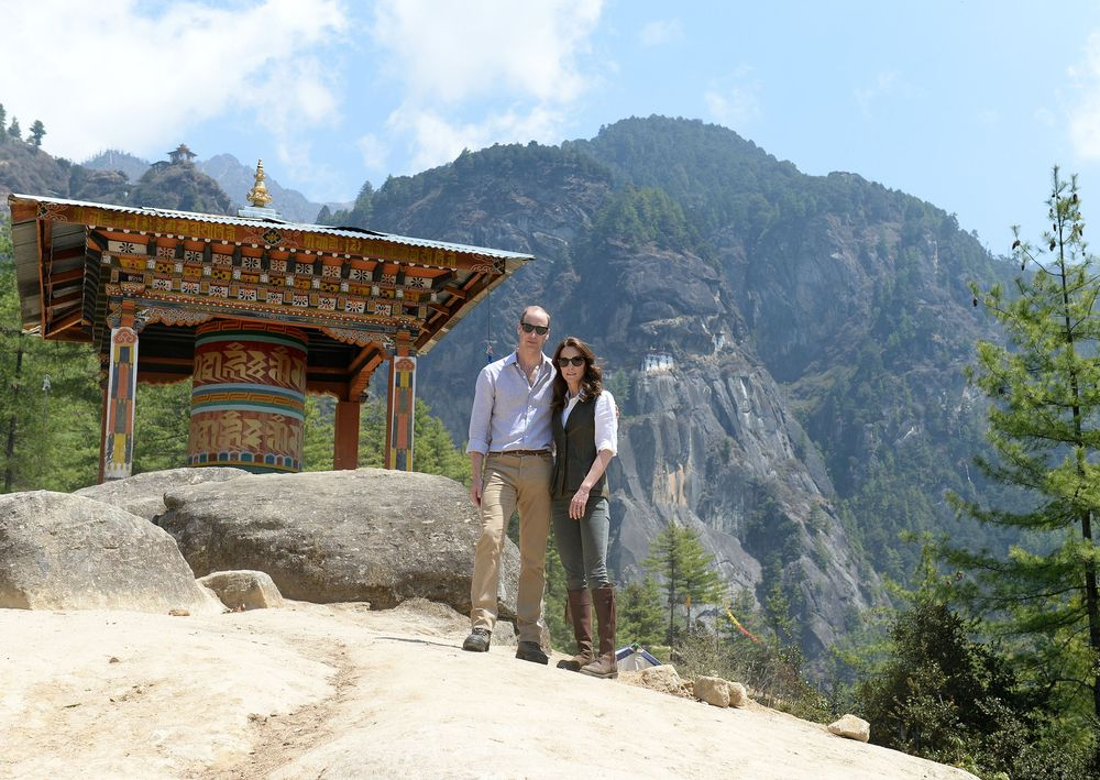 Кейт и принц Уильям в Бутане