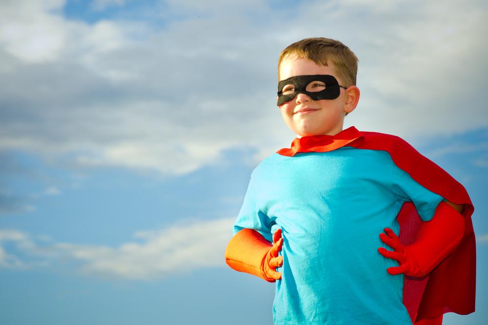ребенок супергерой