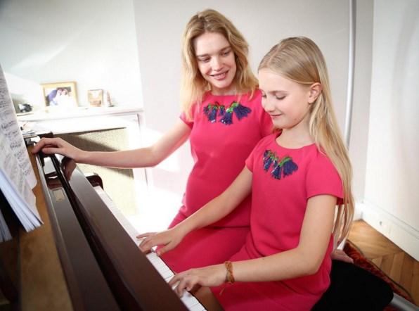 Наталья Водянова с дочерью