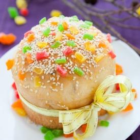 Вкусный кулич с цукатами из апельсина (рецепт)
