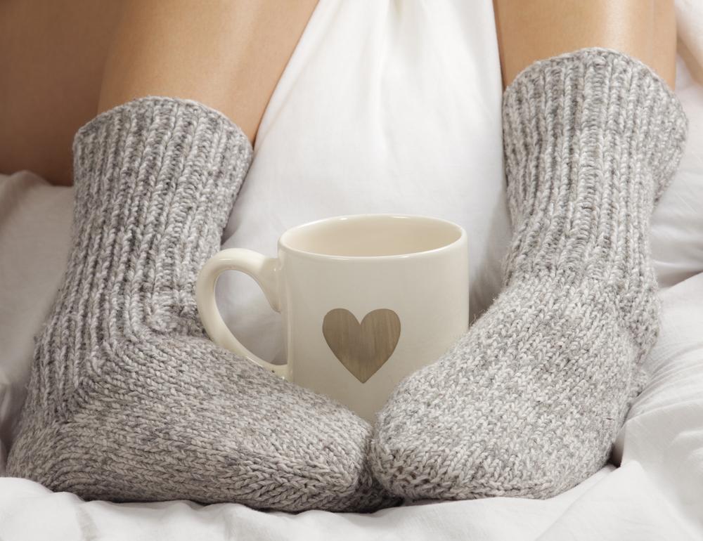 носки и кофе