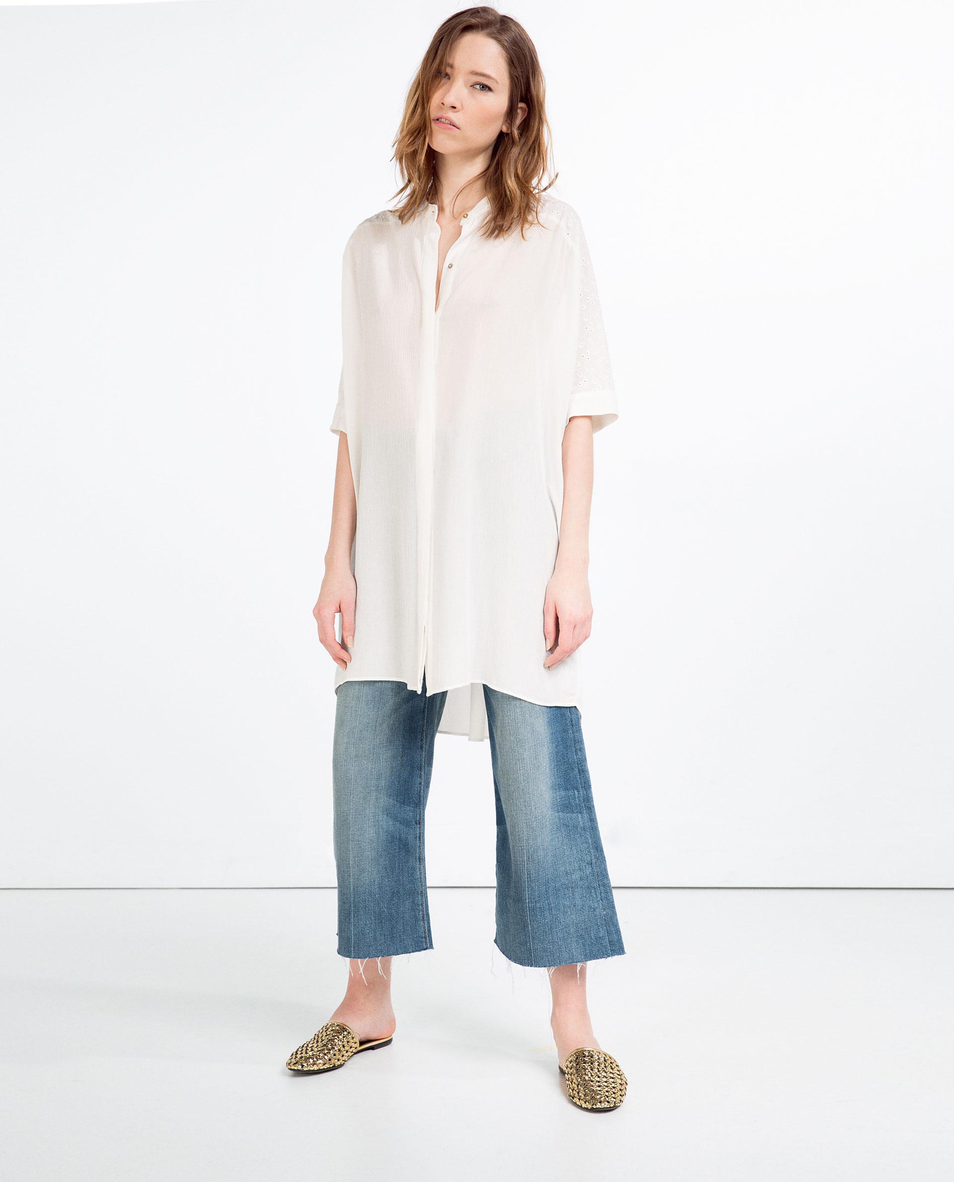 белая блузка унисекс