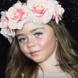 талантливые дети, девочка  стала бьюти-блогером