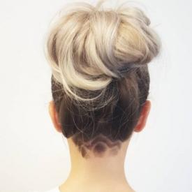 модное hair-тату