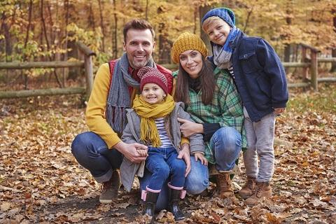 семья осень