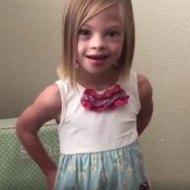 Девочка из Украины с синдромом Дауна стала знаменитостью в Америке