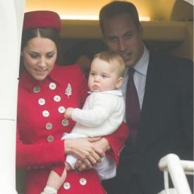 Кейт Миддлтон, принц Уильям, принц Джордж, турне Новая Зеландия