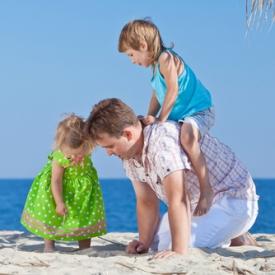 игры на пляже,с ребенком,отдых на море с ребенком