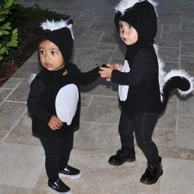 костюм на Хэллоуин,Ким Кардашян,дочка Ким Кардашьян,Норт Уэст,фото,Хэллоуин,звездные семьи,дети звезд