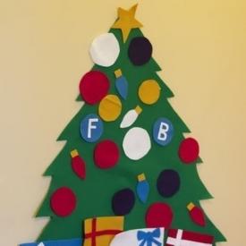 новогодние украшения,развивающие игры с ребенком,развивалка,своими руками,игрушки своими руками,елка из фетра,новый год