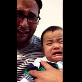 видео,смешное детское видео,папа и сын