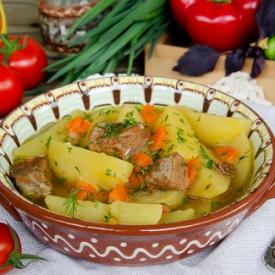 Жаркое со свининой (Рецепт)