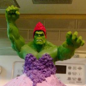 торт,Халк-принцесса,фантазии ребенка,день рождения,креатив