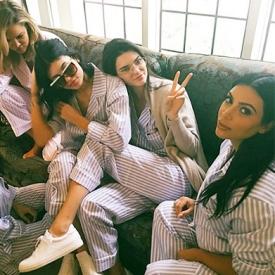 baby shower,Ким Кардашян,пижамная вечеринка