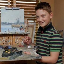 гениальные дети,мини Моне,картины