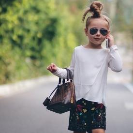модные дети,мода 2016,звезда Instagram,модница Хаурлоу