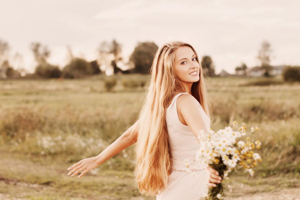 женщина волосы
