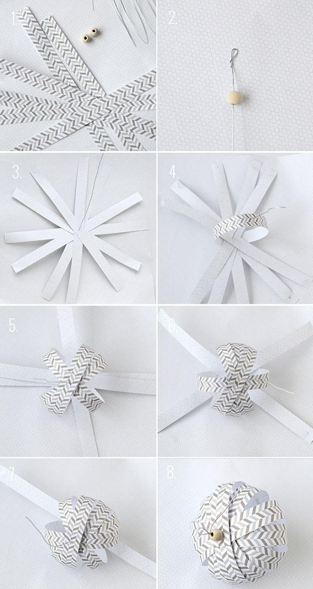 Украшения из бумаги на новый год своими руками видео