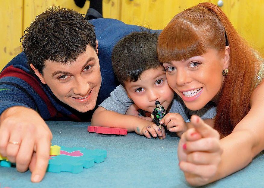 Анастасия Стоцкая и ее сын и муж: фото