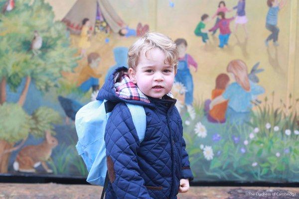 принц Джордж в детском саду