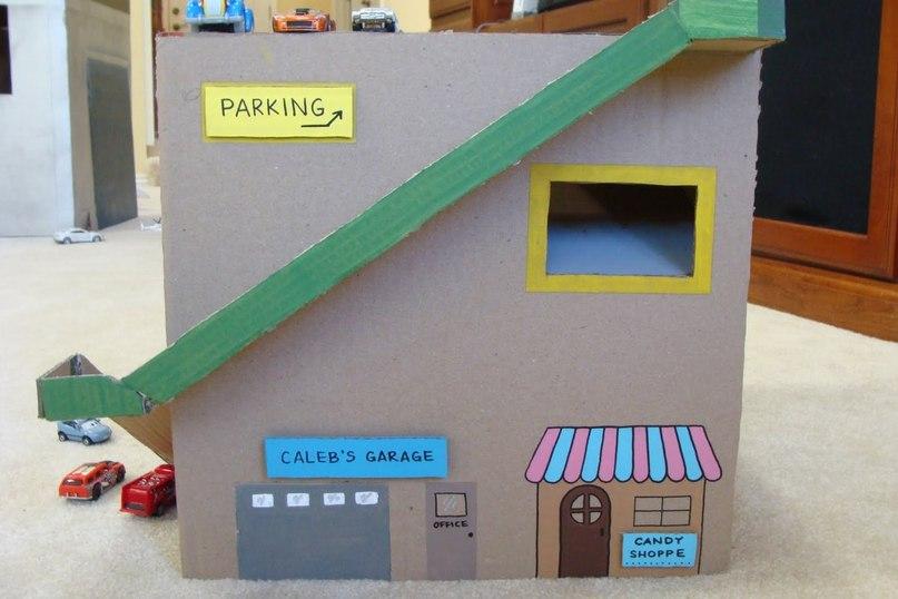 Как из коробки сделать гараж для машинок своими руками из коробки