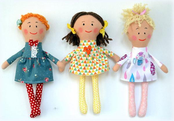 Игровые текстильные куклы для детей своими руками 55